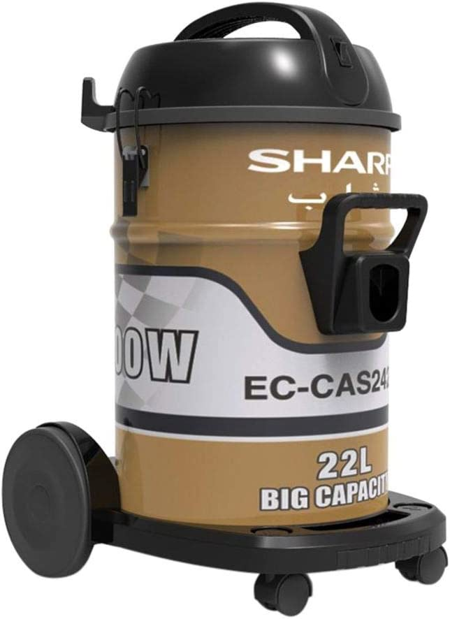 شارب مكنسة كهربائية إسطوانية بسعة 22 لتر 2400 واط، ذهبي - EC-CAS2422-Z