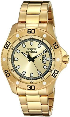 Invicta Men s 19265 Pro Diver Analog Display Japanese Quartz Gold Watch
