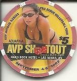 $5 hard rock hotel avp shootout obsolete las vegas casino chip