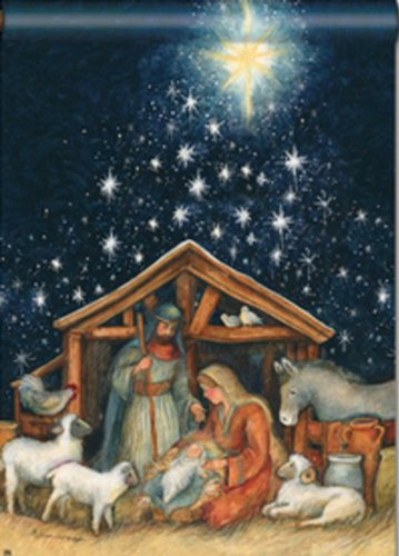 Christmas Nativity.Amazon Com Holy Night Garden Flag Christmas Nativity