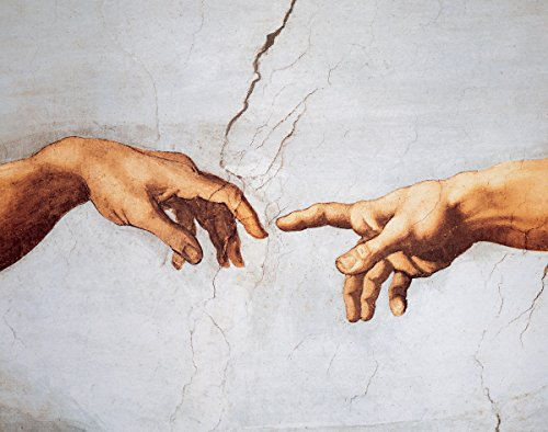 The Creation of Adam Detail by Michelangelo - Art Print / Poster