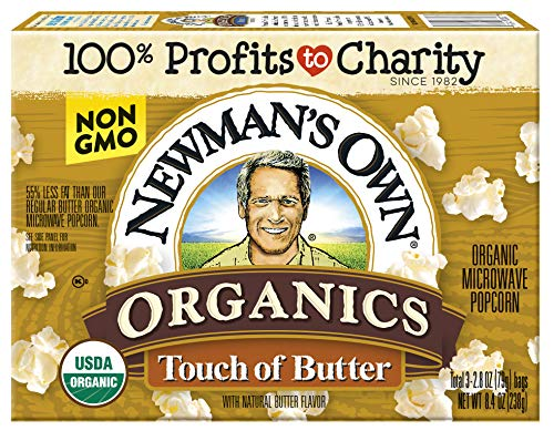 Newman's Own Organics Touch of Butter Microwave Popcorn, 8.4-oz. (Pack of 12)