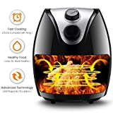 Costzon Electric Air Fryer, UL Certified, 3.2 Quart 1500W, Healthy Oil Free Cooking, Rapid Air Circulation System, Low-Fat, Dishwasher Safe, Detachable Basket Handle Deep Cooker (Black)
