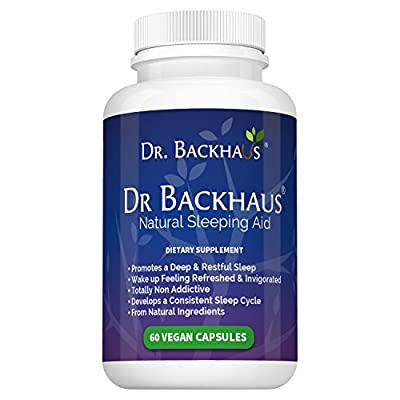 Dr Backhaus Natural Sleep Aid - Now Available in the USA - Promotes a Deep & Restful Sleep, Develops a Regular Sleep Pattern - Non Addictive - Contains Melatonin, Valerian, Gaba, Chamomile, 5-HTP..