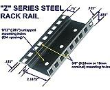 16U steel server rack rail with 3/8'' square holes, 2U-45U, (Z16U) Starcase.com
