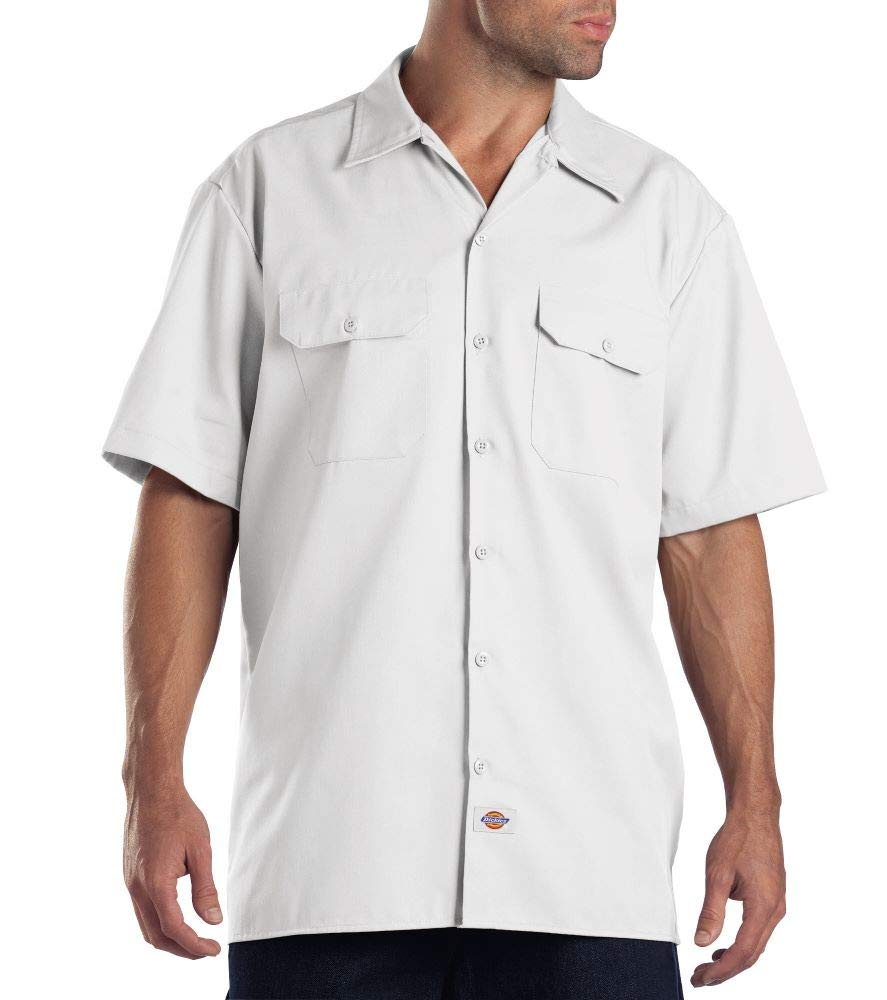 Blanc (blanc) 5XL Dickies Work Chemise Manches courtes Homme