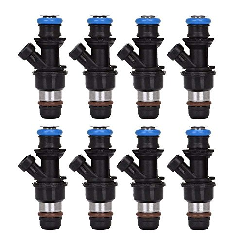 Fuel Injector Kit For 2001-2007 GMC Sierra Chevy Chevrolet Silverado Cadillac V8 4.8L 5.3L 6.0L 17113698 17113553 FJ10062 (Pack of 8)