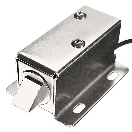 Yingte Solenoid Cabinet Door Drawer Lock,6V DC 1.5A Electric Lock Assembly