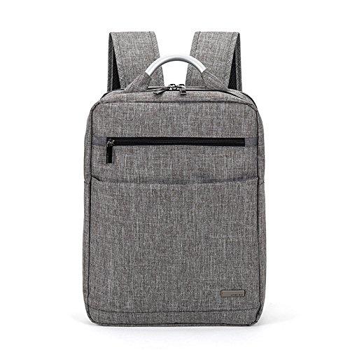 Mefly Nuevos Hombres De La Tela Oxford Bolso Bolso De Viaje Simple Ocio Mochila Negra De Moda Coreana gray