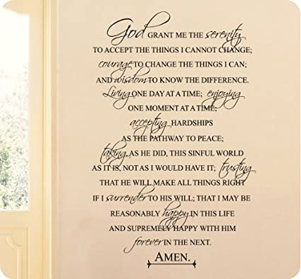 photo relating to Serenity Prayer Printable known as 36\