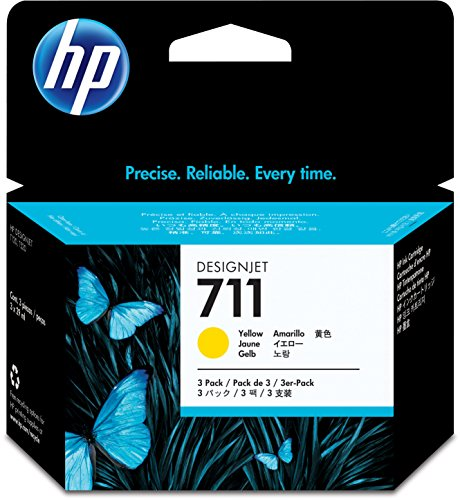 HP HEWCZ136A 711 Yellow Ink Cartridges, Yellow by HP