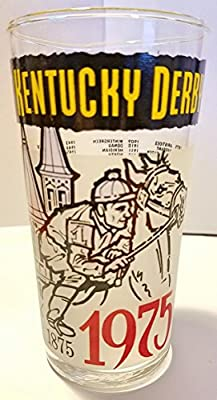 Kentucky Derby Official 1975 Derby Glass -- Churchill Downs