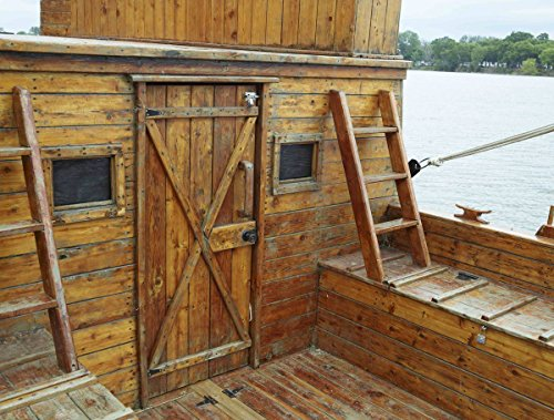 Photograph| Part of the deck of a full-size replica of a keelboat at the Lewis & Clark State Park, on an inlet of the Missouri River in Onawa, Iowa 2 Fine Art Photo Reproduction 44in x 32in