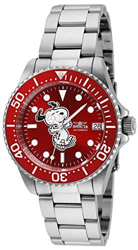 Invicta Women's 'Character Collection' Automatic Stainless Steel Diving Watch, Color:Silver-Toned (Model: 24792)