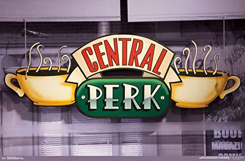 Trends International Friends-Central Perk Mount Bundle Wall Poster, 22.375