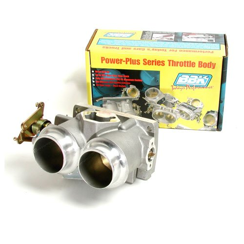 BBK 3503 Twin 61mm Throttle Body - High Flow Power Plus Series For Ford F Series Truck And SUV 302, 351 ()