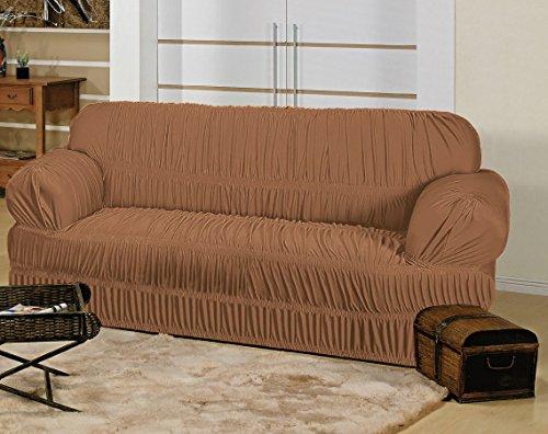 Capa Elasticada para sofá de 3 Lugares - Avelã
