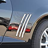 2012 camaro accessories - Polished Stainless Side Intake Trim fits: 2010-2013 Chevy Camaro - Ferreus Industries - OTH-117-08