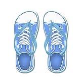 Cheap CafePress Blue Sneaker – Flip Flops, Funny Thong Sandals, Beach Sandals