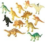 Dozen Small Toy Dinosaurs: 2 inch Plastic Toy Dino Figures