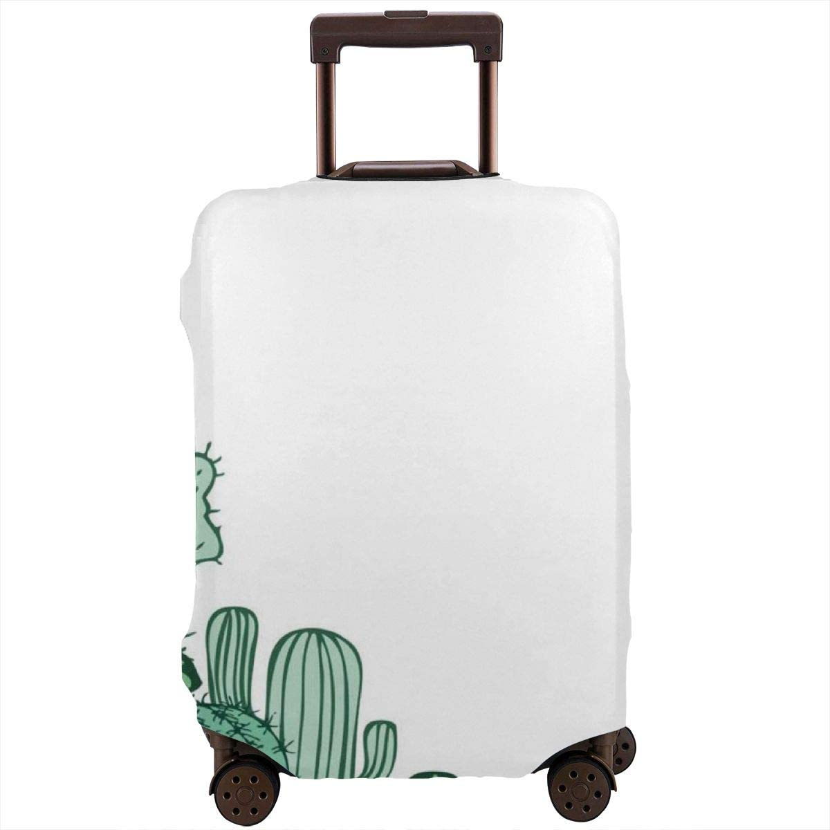 JHNDKJS Cactus Decor Travel Luggage Cover Baggage Suitcase Protector Fit for 12-18 Inch Luggage