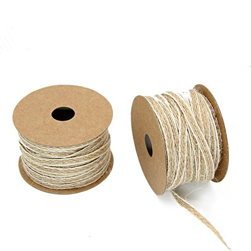 Yalulu10 Meters Natura Fish Silk Hemp Rope Ribbon with White Line Trims Tape Roll Vintage Rustic Wedding Decoration Mariage Wedding Supplies