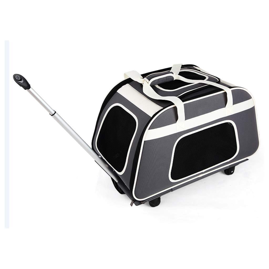 FJH Pet Trolley Bag Dog Outing Carrying Bag Dog Bag Car Cage Dog Backpack Cat Bag Pet Pack
