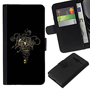 Stuss Case / Funda Carcasa PU de Cuero - Diseño Humo - Samsung Galaxy Core Prime