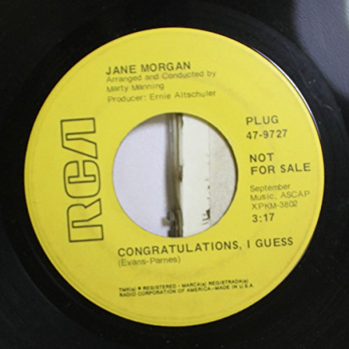 Jane Morgan 45 RPM Congratulations, I Guess /