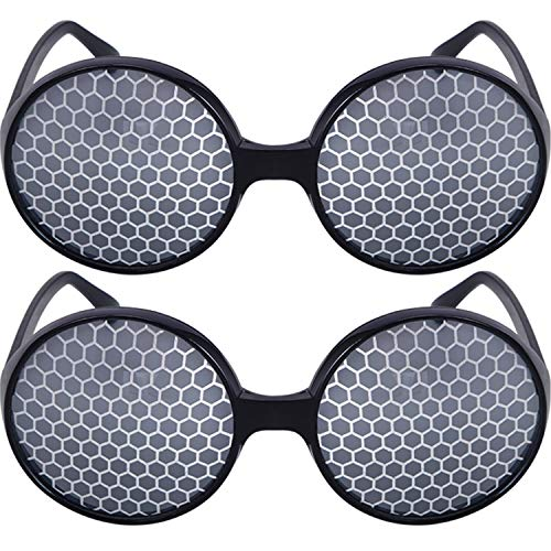 4 Pairs Black Bug Eyes Glasses Fly