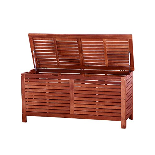 Acacia Wood Cushion Box Deck Storage Weather Resistant Toscana by Beliani