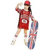 Girls Sequins Street Jazz Dance Dress Sparkle Tunic Skirt Hip Hop Dancewear(5)