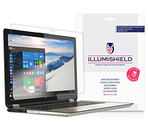 iLLumiShield Anti-Fingerprint Ultra Clear HD Film Screen Protector for Toshiba Satellite Radius (15.6-Inch) (P55W-B5112) -  ILS21017