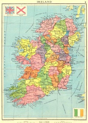 Map Of N Ireland With Counties.Amazon Com Ireland Irish Free State Ulster Northern Ireland