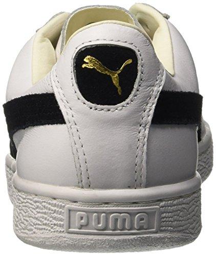 Blanc Scarpe Adulto Nero Unisex da Noir Bianco Puma Basket Classic wqFxOavf