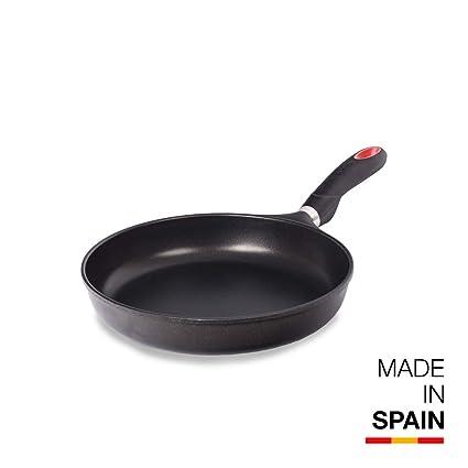 Valira Tecnoform - Sartén Premium de 28 cm hecha en España, aluminio fundido con antiadherente reforzado, no apta para inducción