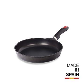 Valira Black - Sartén Premium de 28 cm hecha en España, aluminio fundido con antiadherente