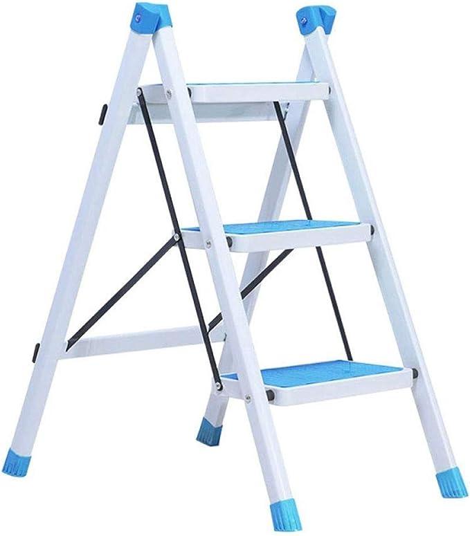 HEMFV - Escalera 2 en 1 de Aluminio Ligero de 3 peldaños con diseño de conexión Invisible, Escalera con Pedal Antideslizante Resistente y Amplia, para fotografía: Amazon.es: Juguetes y juegos