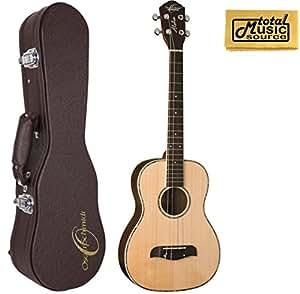 oscar schmidt baritone ukulele w case solid spruce top grover tuners ou53. Black Bedroom Furniture Sets. Home Design Ideas