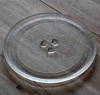 24,5 cm Universal Mikrowelle Ersatz Drehteller Glasteller Ersatzteil Microwelle Ersatzteller mit 24,5cm Durchmesser Teller Mikrowellenteller Microwellenteller