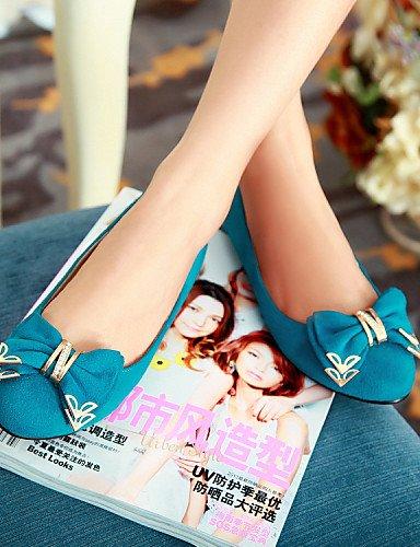 zapatos green de redonda azul eu36 cn36 piel sintética talón uk4 us6 verde de plano Flats Casual morado mujer punta PDX nRwBZ5