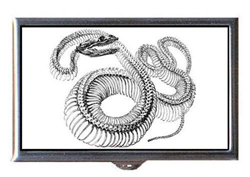Victorian Snake - Snake Skeleton Victorian Gothic Scary Graphic Decorative Pill Box