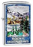 Zippo Lighter: Fusion Rocky Mountains - High Polish Chrome 79782