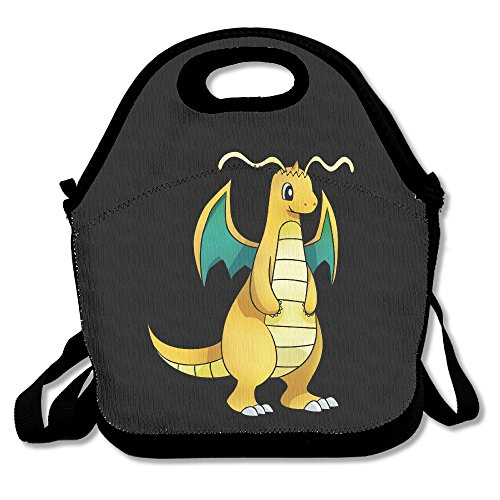 Cartoon Dragonite Lunch Box Bag For Kids And Adult,lunch Tote Lunch Holder With Adjustable Strap For Men Women Boys Girls,This Design For Portable, Oblique Cross,double (Female Cartoon Characters Names)