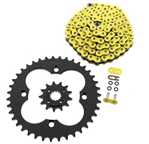 Price comparison product image 2009-2014 Honda TRX400X TRX400 Yellow O-Ring Chain and Black Sprocket 13 / 39 94L
