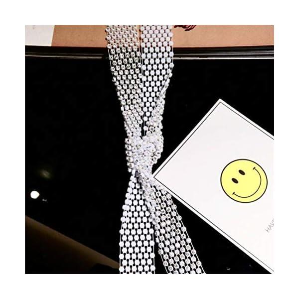Fashion Sparkle Woman/Men Rhinestone Long Necktie Neckwear Choker Belt Versatile Accessory,Birthday/Valentine's Day Gifts