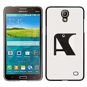 Caucho caso de Shell duro de la cubierta de accesorios de protección BY RAYDREAMMM - Samsung Galaxy Mega 2 - Una letra inicial Cuervo Gris Negro