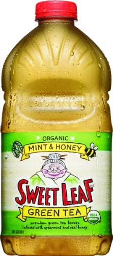 Honey Green Sweet Tea (Sweet Leaf Tea, Mint & Honey Green Tea, 64-Ounce Bottles (Pack of 8))