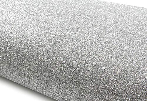 (ROSEROSA Peel & Stick Glitter Sand & Crafting Tape Self Adhesive Shelf Liner Table and Door Reform Border Sticker (Silver : 11.81inch X 48.03inch))
