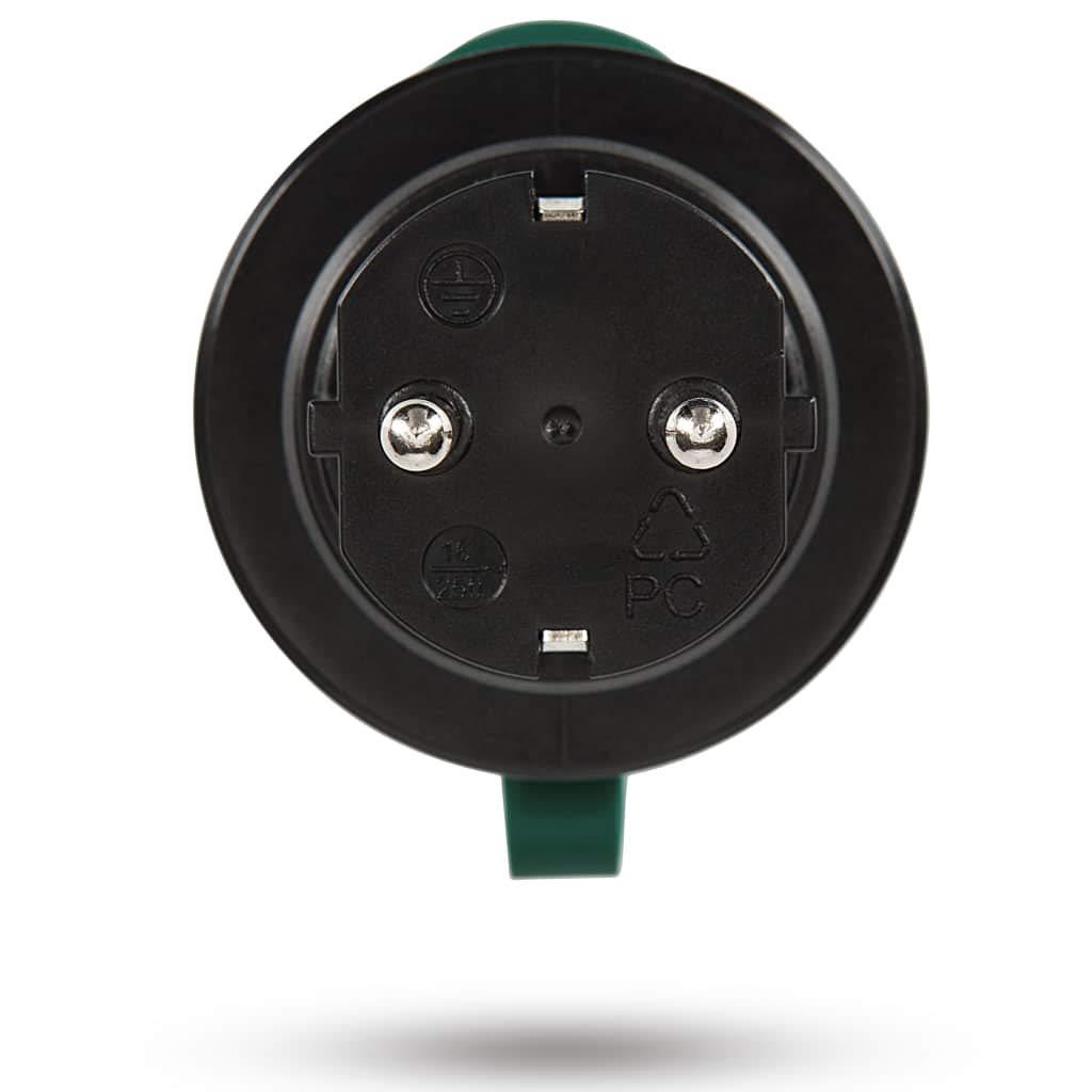 24 mesi di Garanzia Nero//Verde Set di Prese telecomandate 2 2300 Watt Qualit/à Premium per Esterno 1 a Prova di Spruzzi SEC24 HAF780S Estensibile Presa interruttore SET Plug /& Play